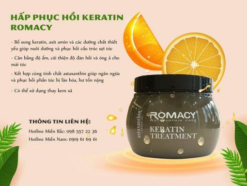 Hấp phục hồi Keratin Romacy - Phục hồi tóc hư tổn sau 2 lần dùng
