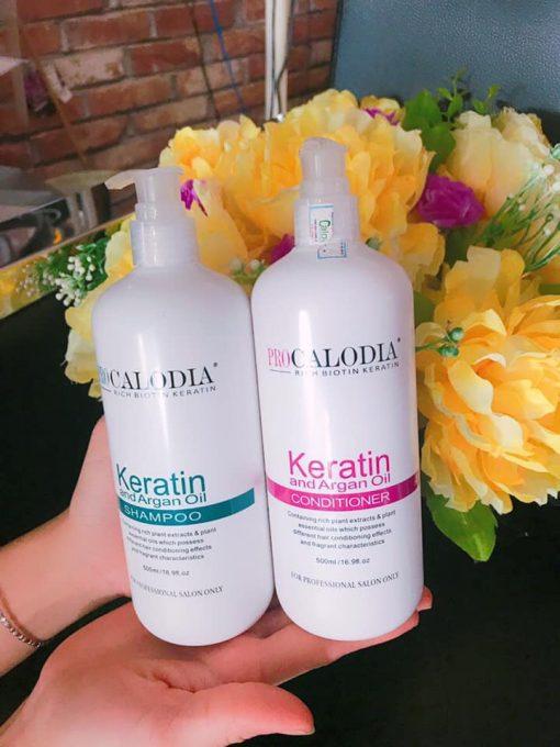 Bộ gội xả phục hồi Calodia - Chăm sóc và phục hồi tóc hư tổn ngay tại nhà